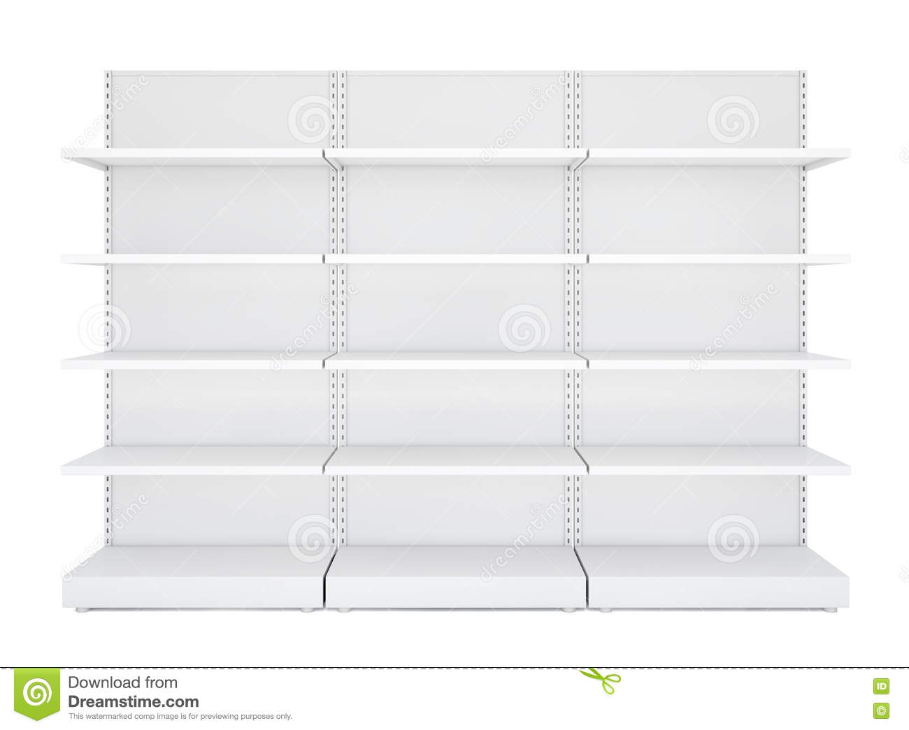 three white blank empty retail shelves stock photo image of object
