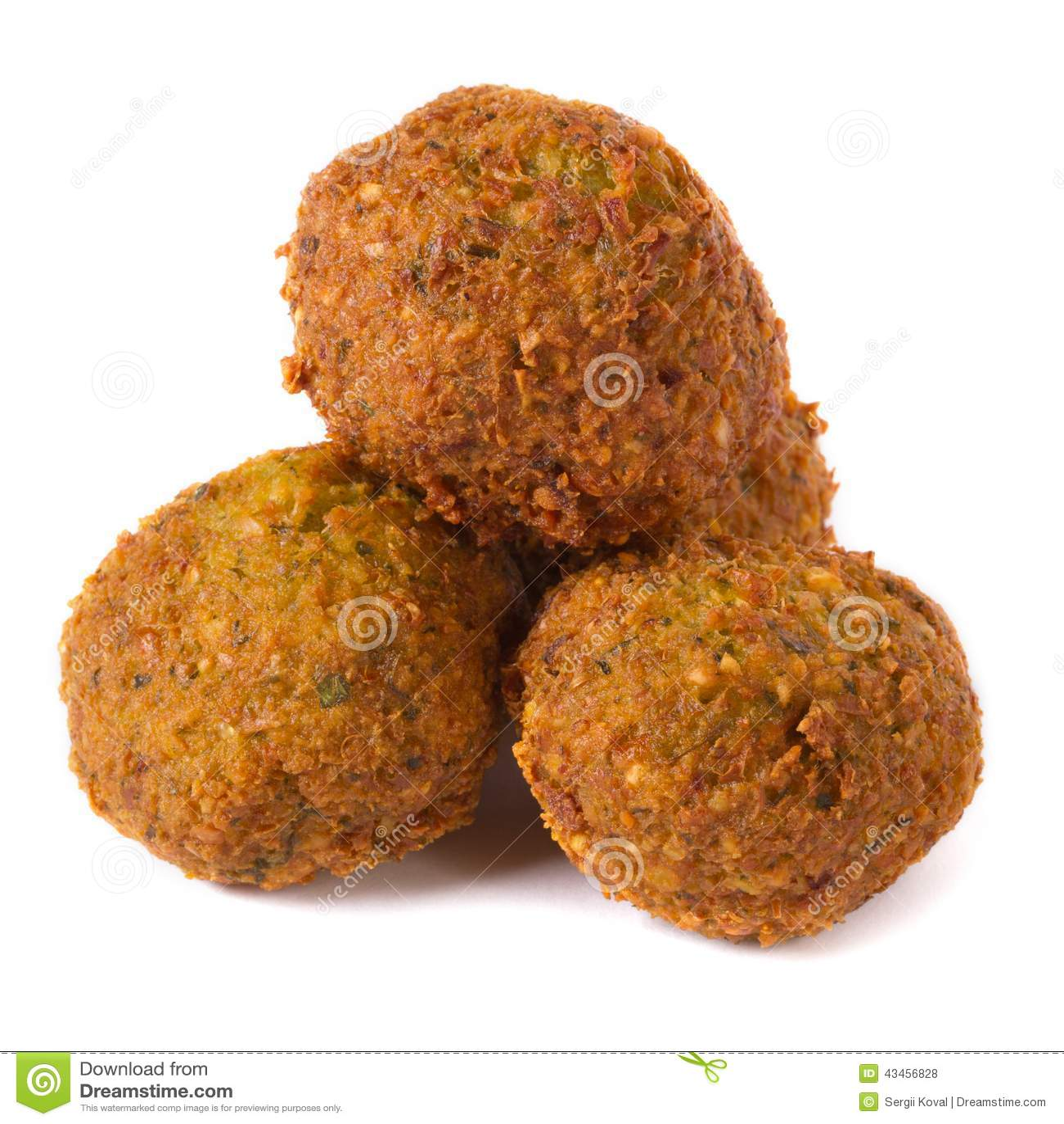 Three Whole Falafel Isolated On White Stock Photo - Image ... Falafel Clipart