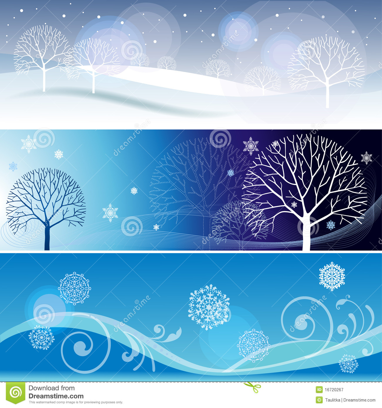 Three winter banners stock illustration. Image of banners ...