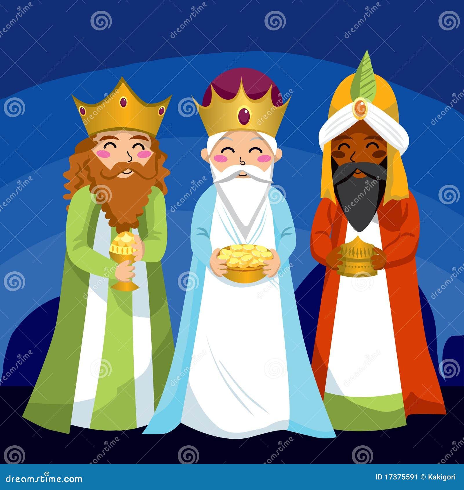 Three wise men stock vector illustration of cartoon