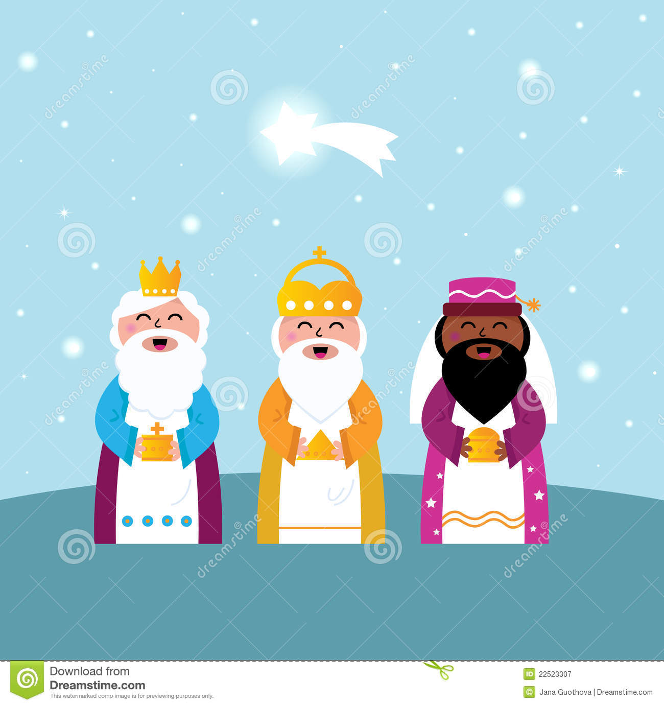 Three Wise Men Bringing Gifts Royalty Free Stock Photography - Image ...