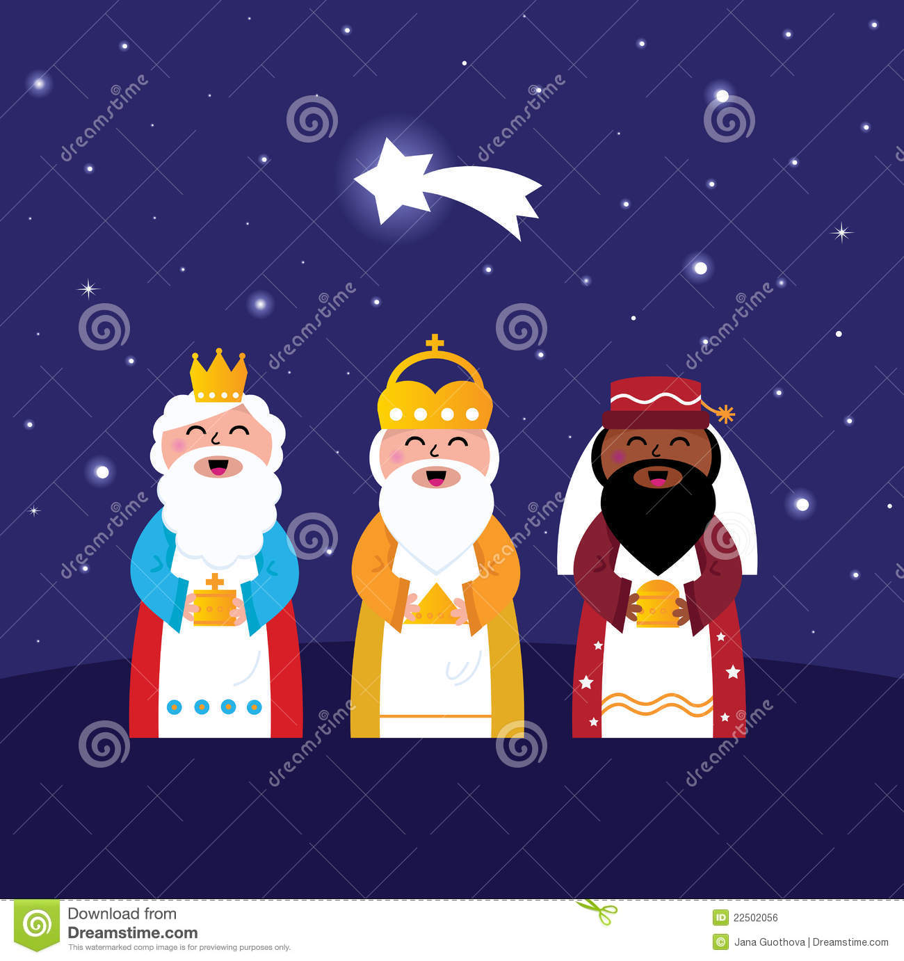 Three Wise Men Bringing Gifts To Christ Royalty Free Stock Image ...