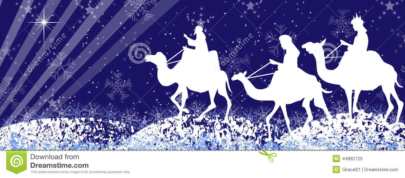 Three Wise Men Silhouette-facebook Timeline Stock Vector - Image ...