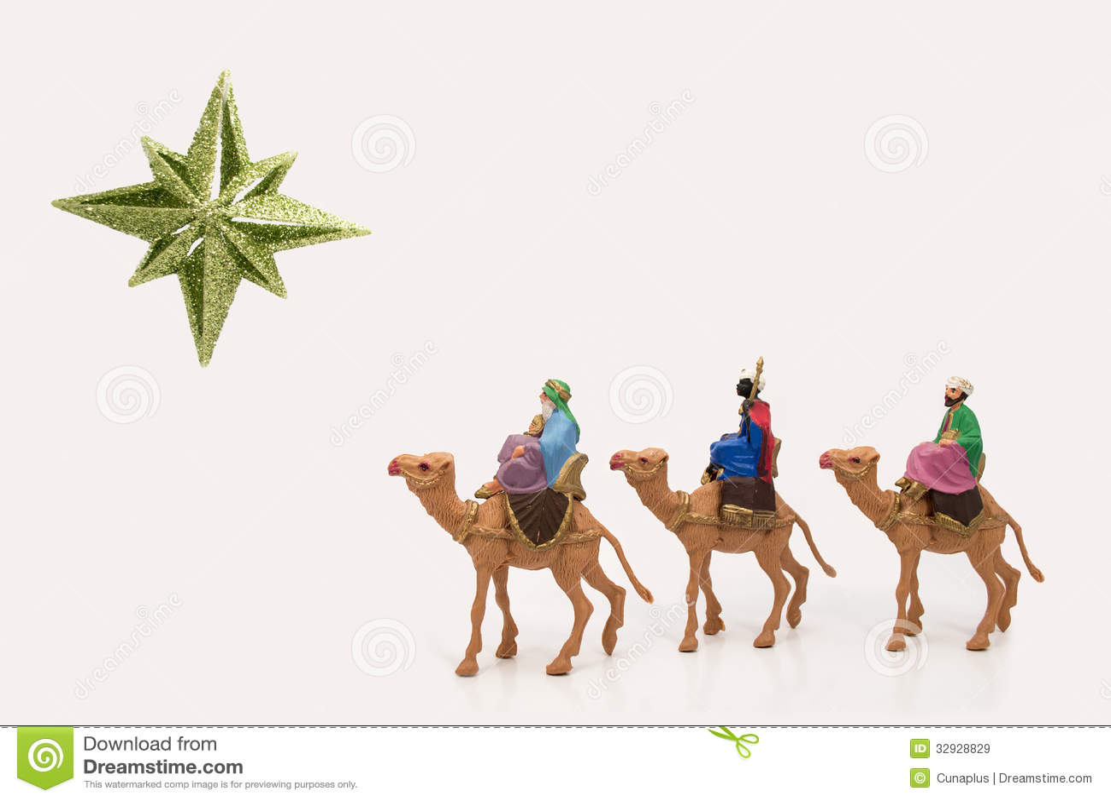 Wisemen following the star of bethlehem clip art