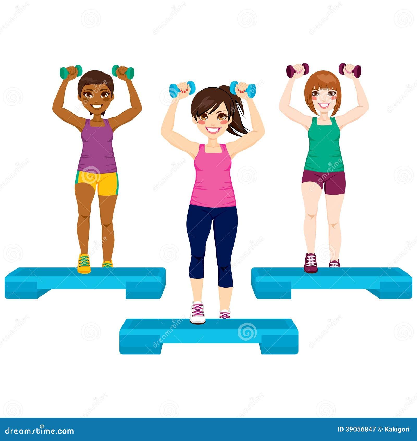 Three Women Exercise Stock Vector - Image: 39056847