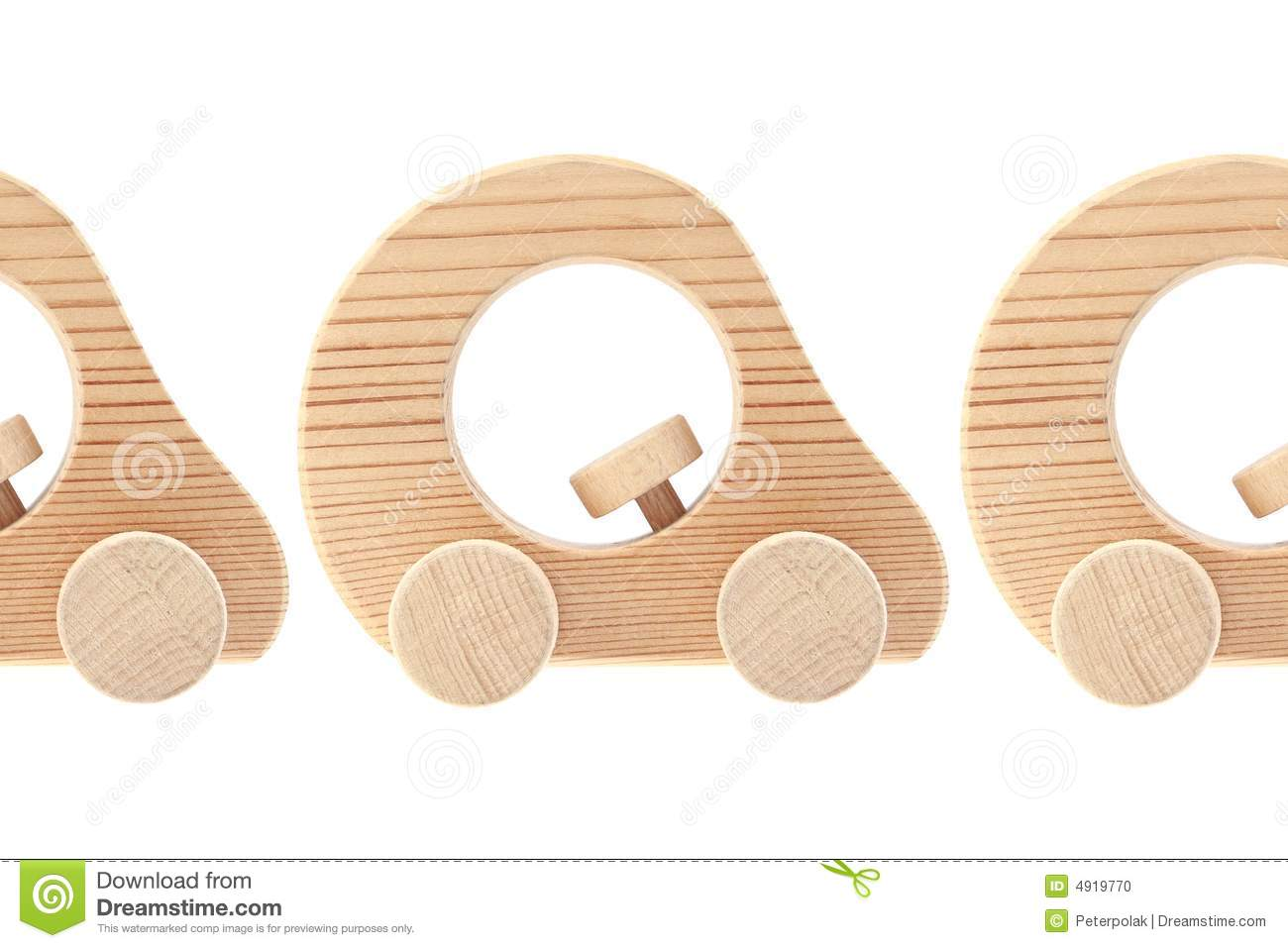 Three Wooden Toy Cars Stock Photo - Image: 4919770