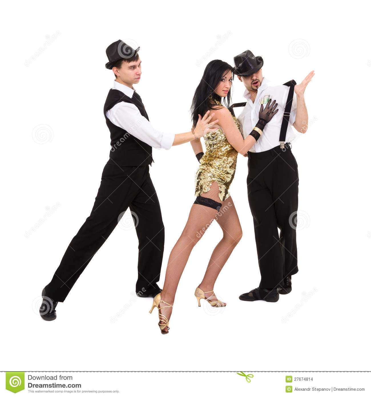 Three Young Old Fashioned Dancers Stock Photo Image Of Fashion
