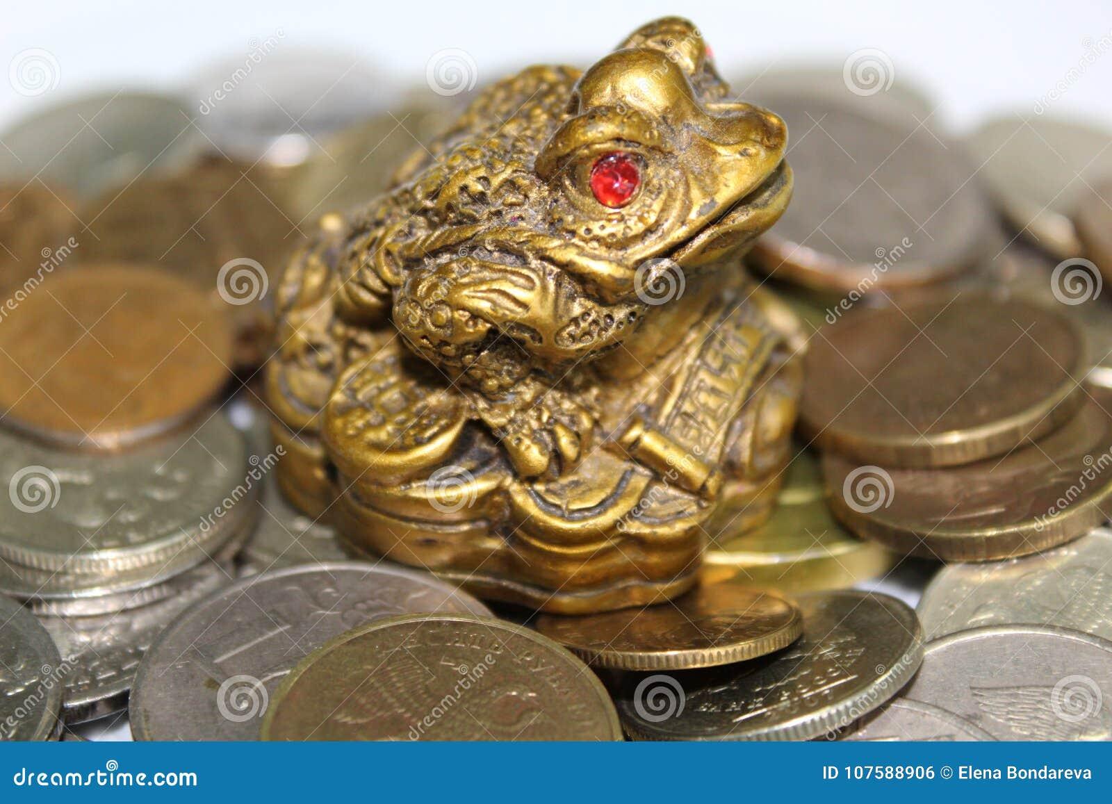 Threelegged Frog Symbol Of Wealth Stock Photo Image Of Affluence