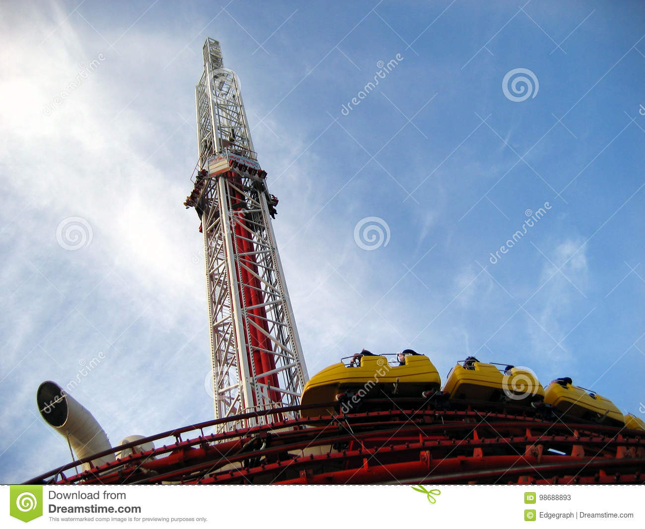 Thrill Rides At The Stratosphere Las Vegas Nevada Editorial Stock