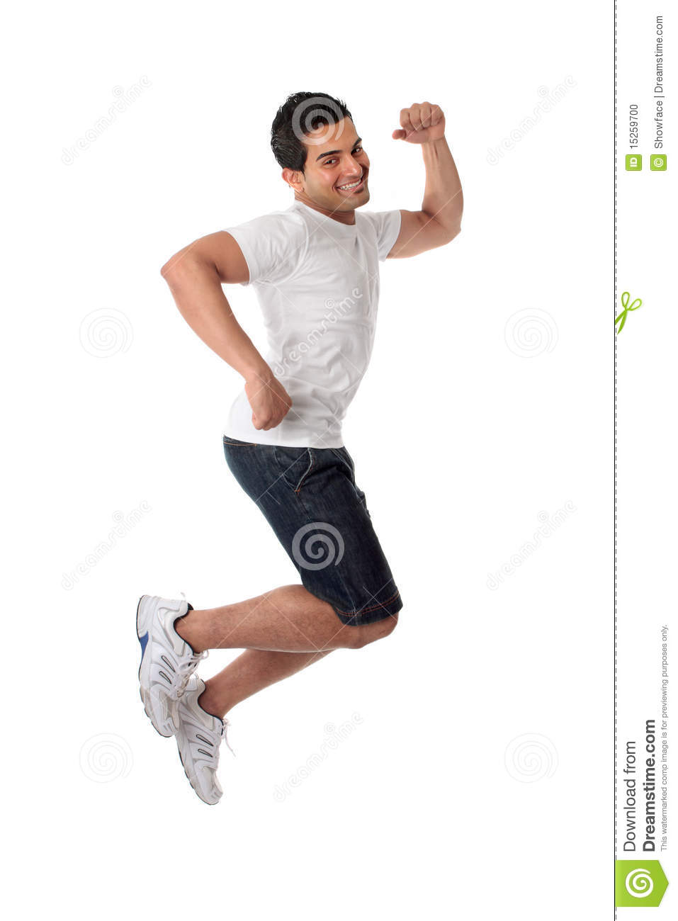 thrilled man jumping for joy stock photo image 15259700