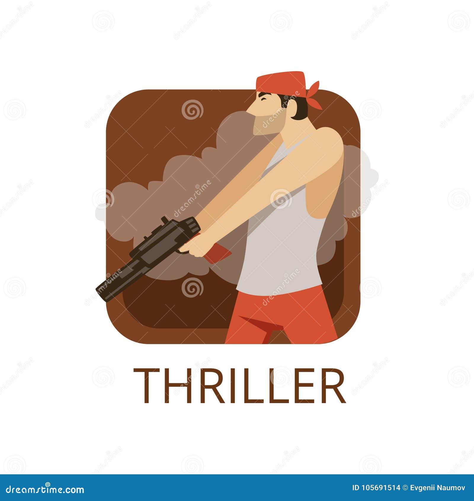 Thriller cinema genre symbol for cinema or channel thriller cinema genre symbol for cinema or channel cinematography movie production vector illustration biocorpaavc
