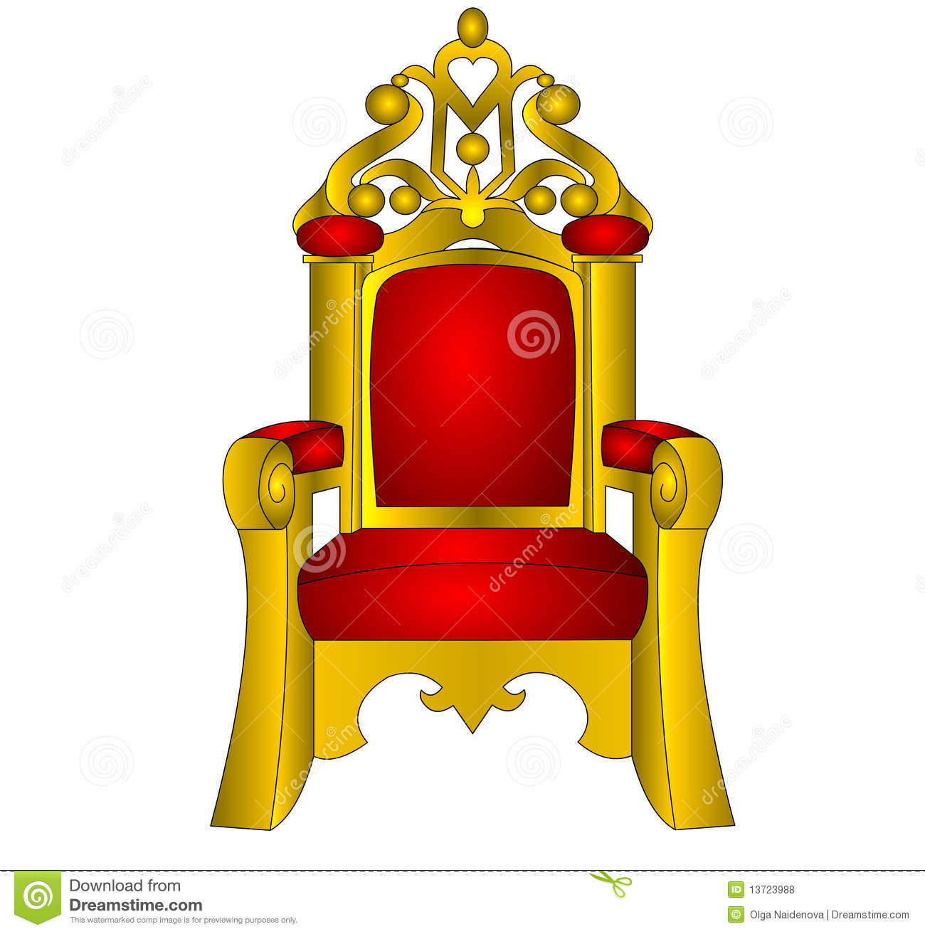 The Throne For King Red And Soft Royalty Free Stock