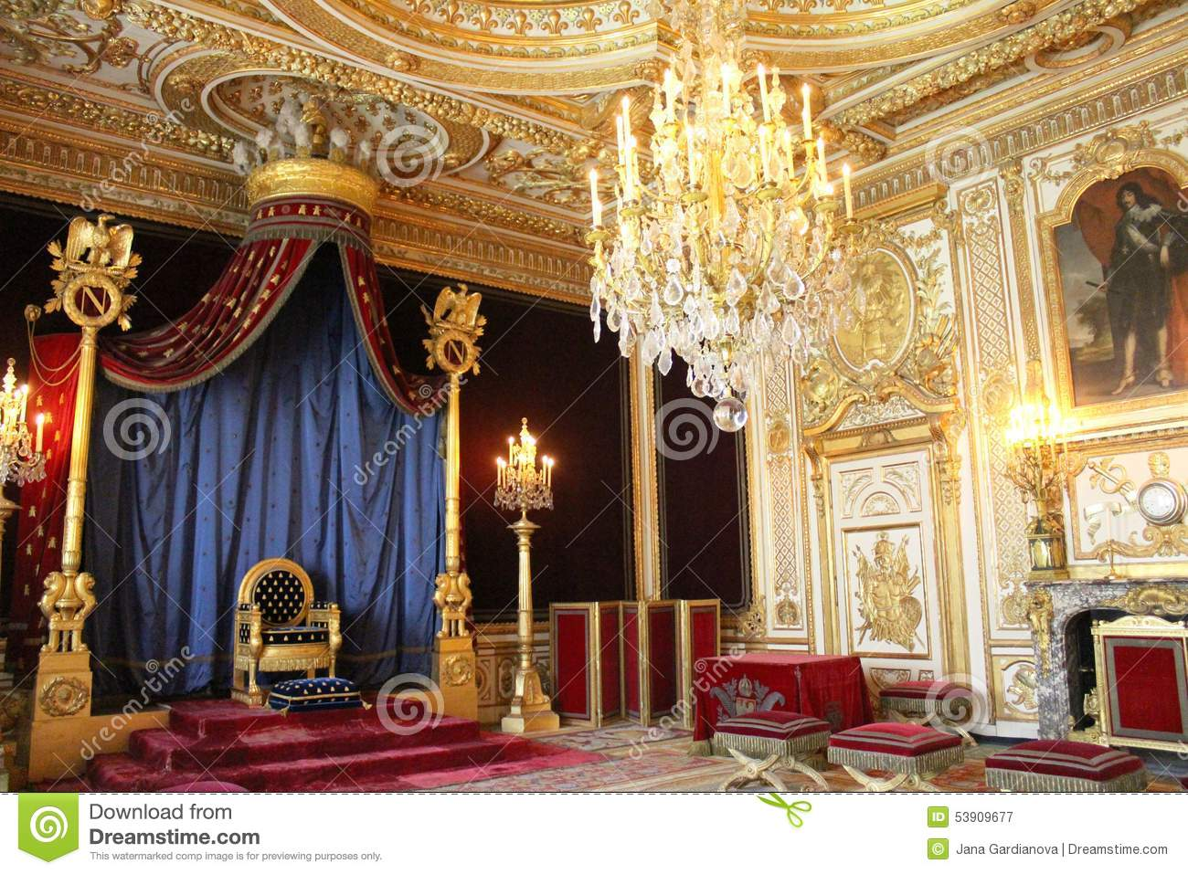 throne of napoleon in fontainebleau editorial photography. Black Bedroom Furniture Sets. Home Design Ideas