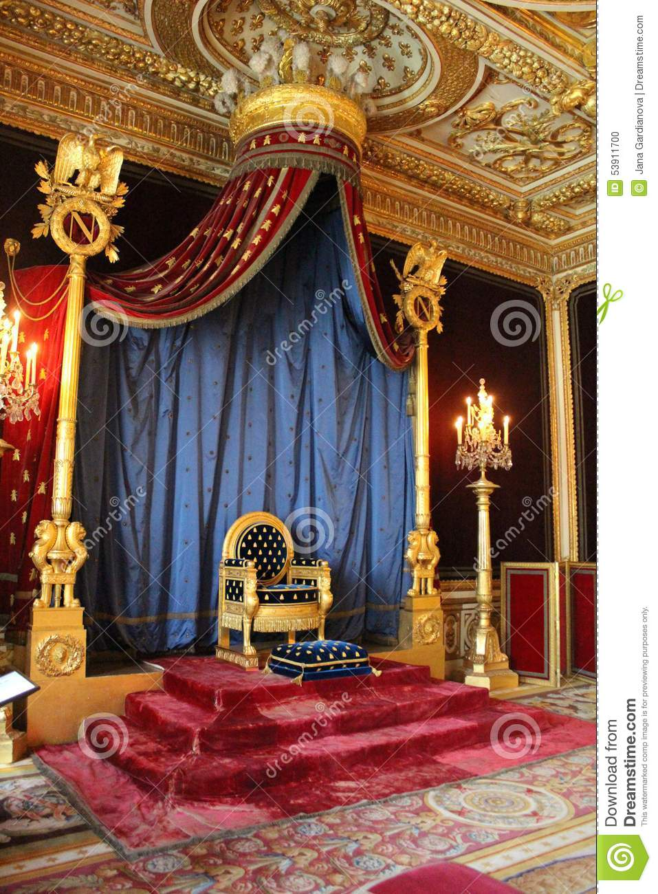 Throne Of Napoleon Fontainebleau France Editorial Image