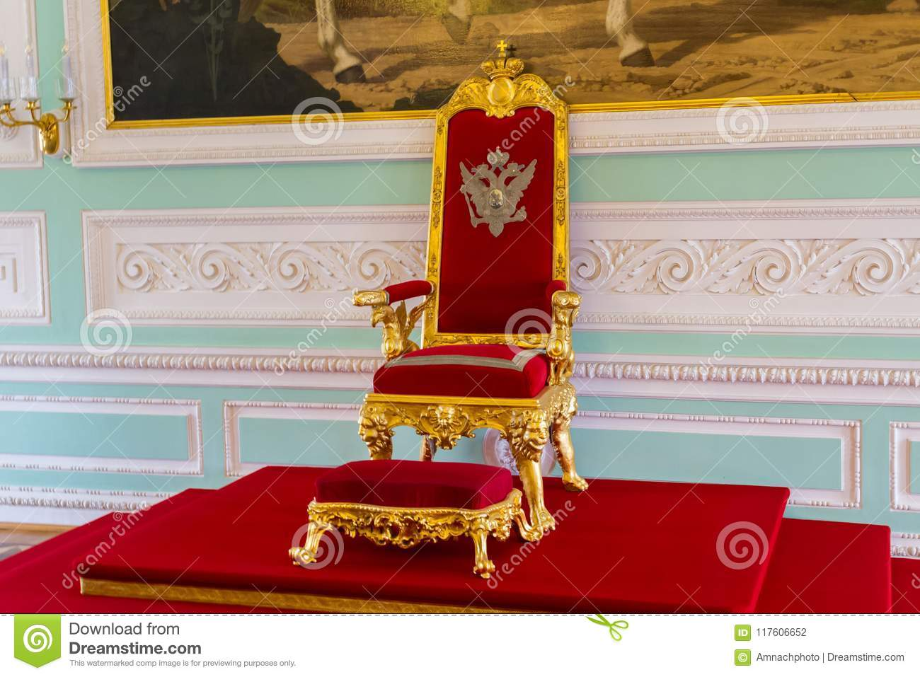 Throne Of The Peter The Greats Russian Kings In The Peterhof Pa