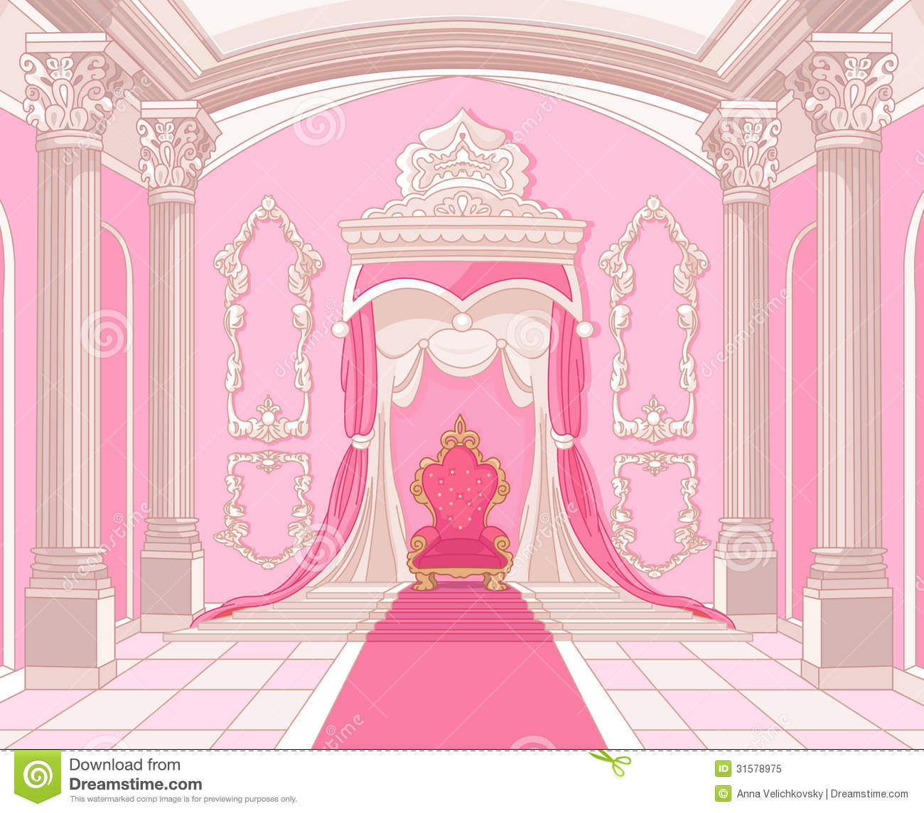 Luxury Apartment Floor Plans Throne Room Of Magic Castle Stock Vector Illustration Of