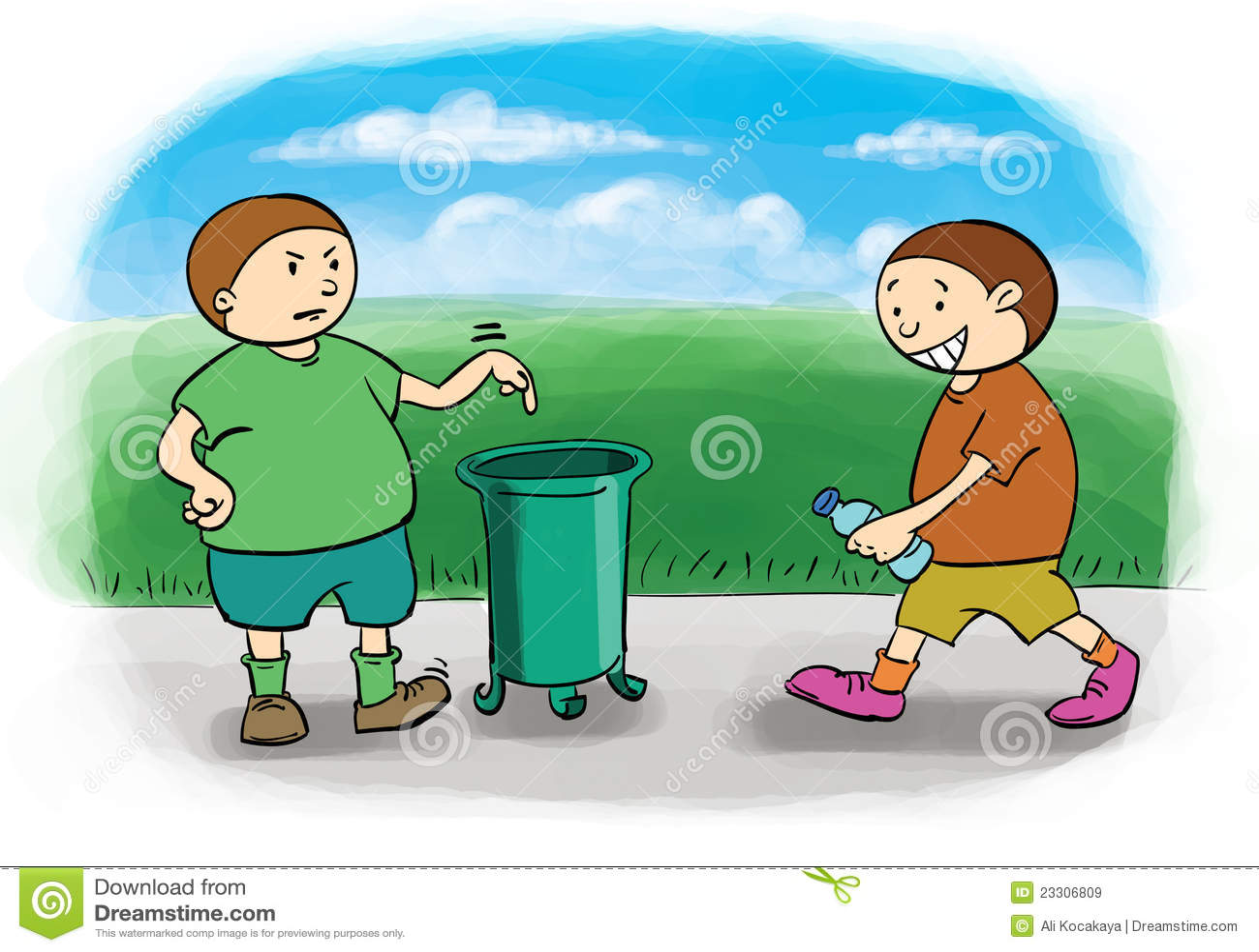 Throw trash