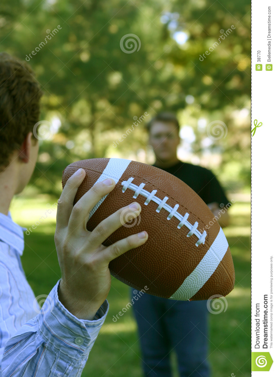 Throwing the football