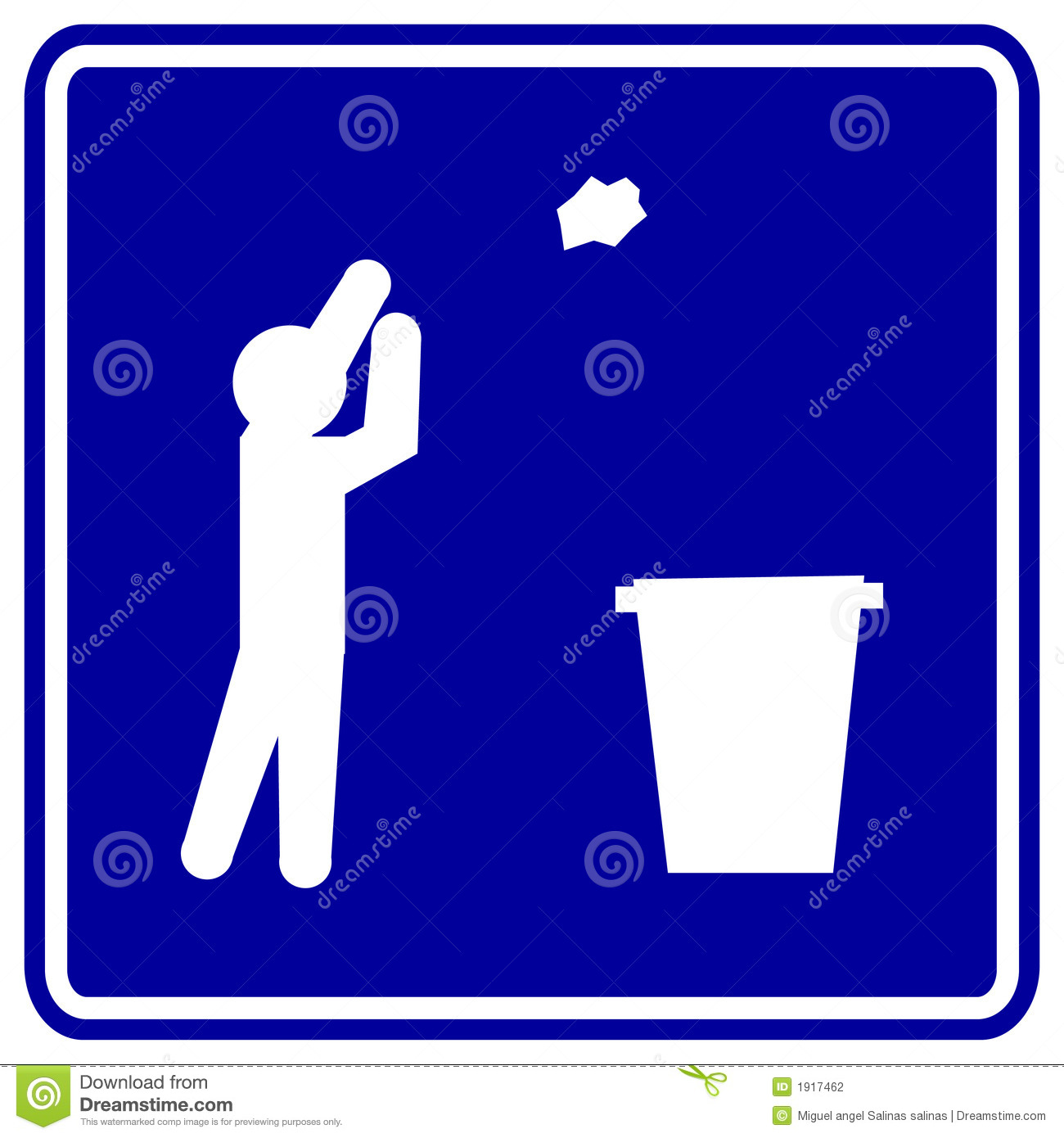 Throwing Trash Vector Sign Stock Vector Image Of Dispose