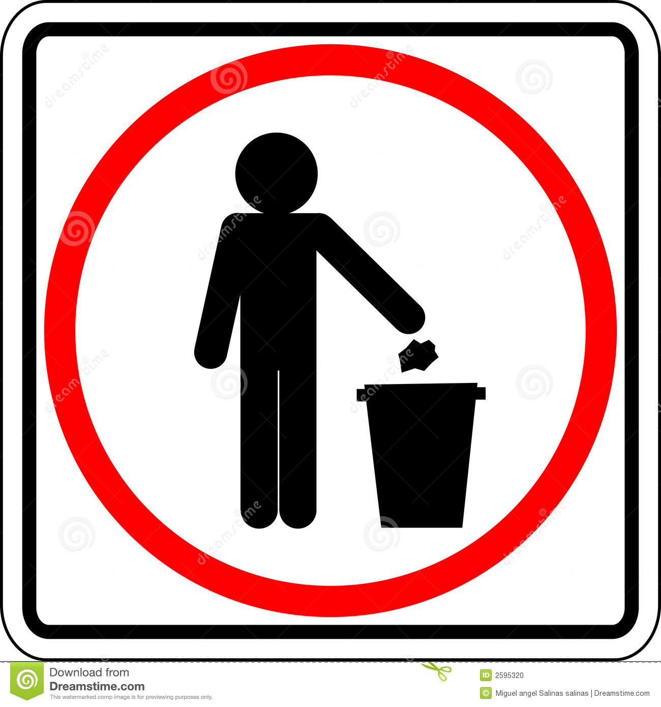 Throwing Trash Vector Sign Stock Vector Illustration Of Person
