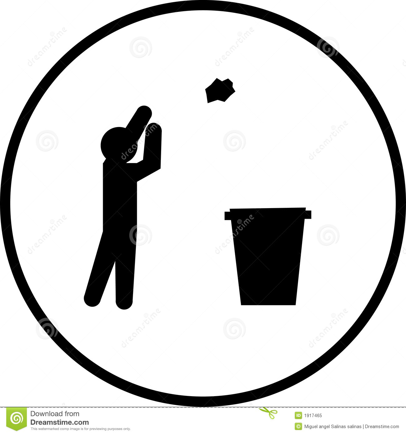 Throwing Trash Vector Symbol Stock Vector Illustration Of Icon