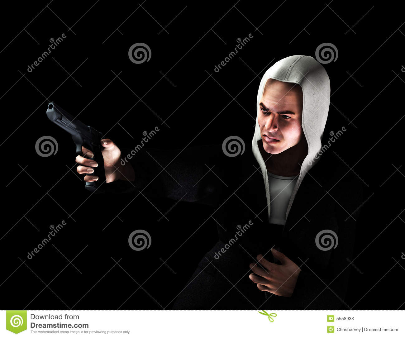 What Is An Asbo >> Thug With Gun 2 stock illustration. Illustration of ...