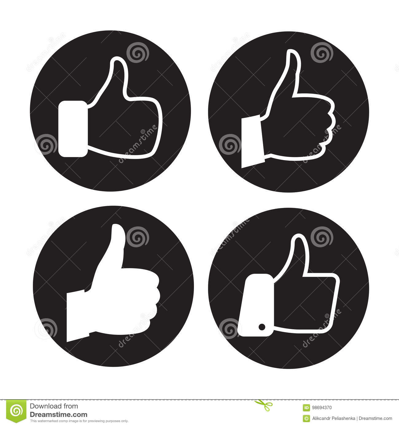 Thumb icons set