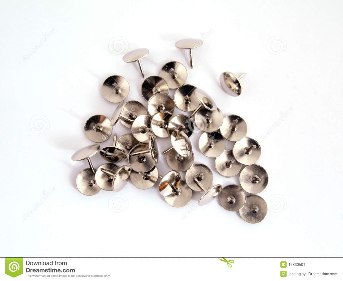 thumb tack or drawing pin stock image image of staple 16830501