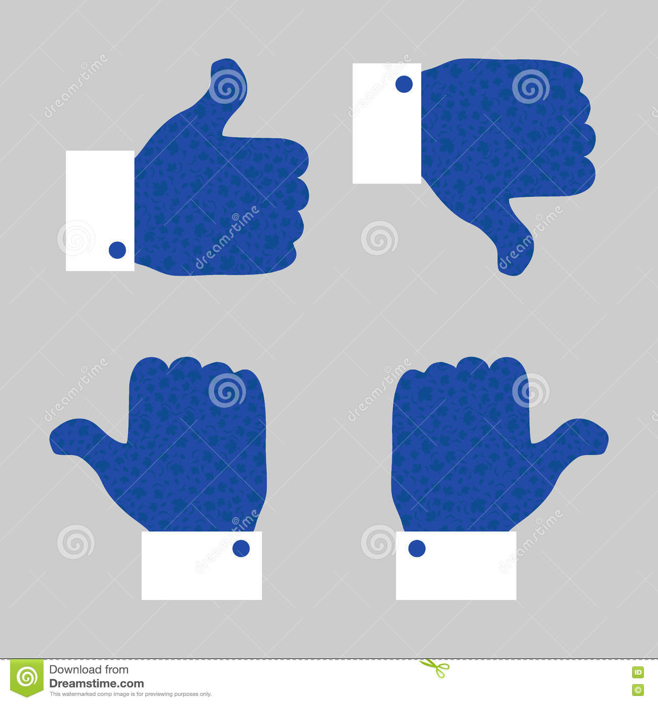 Thumb Up Down Icon With World Cup Of Ice Hockey Stock Vector