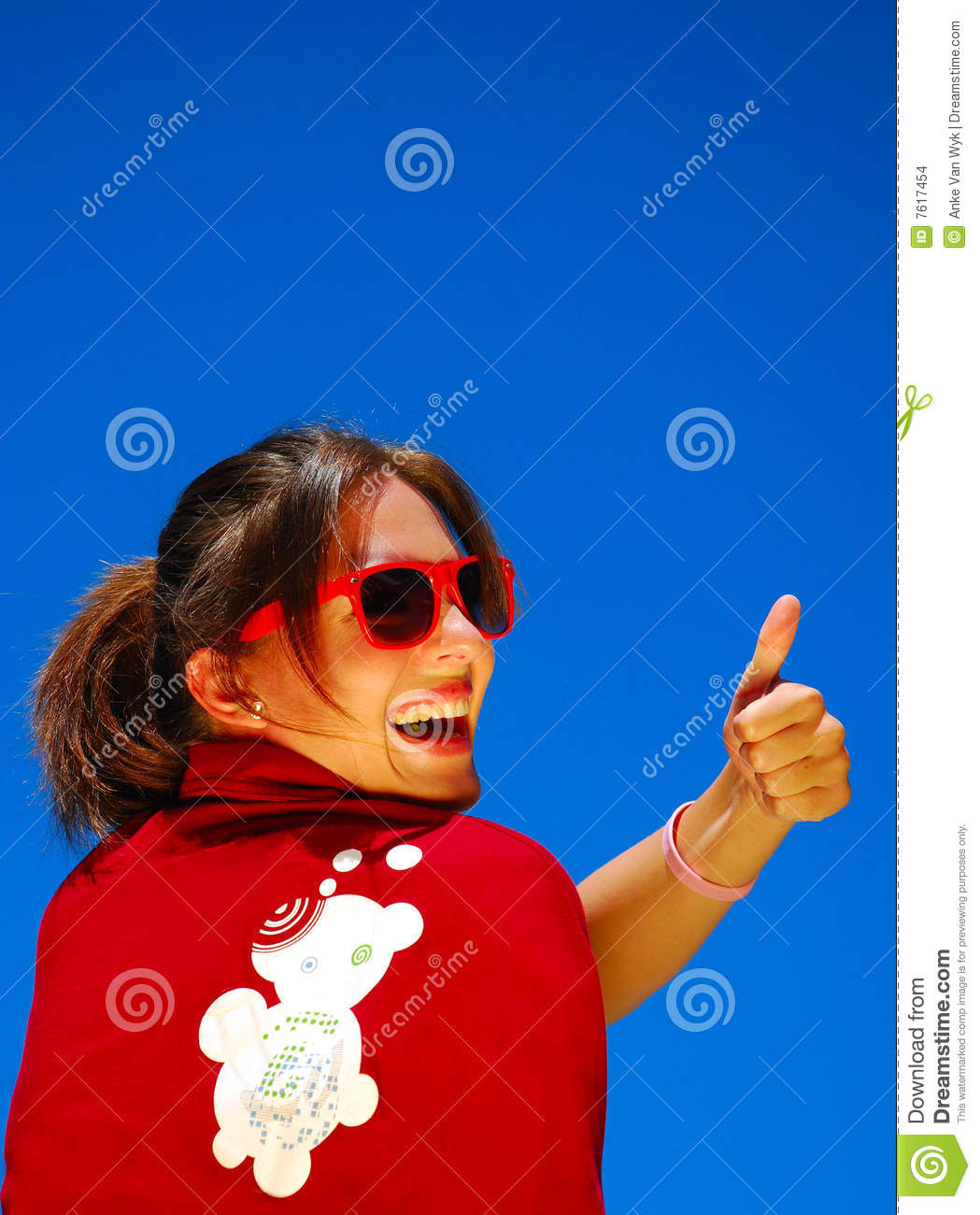 Thumb up for Dreamstime