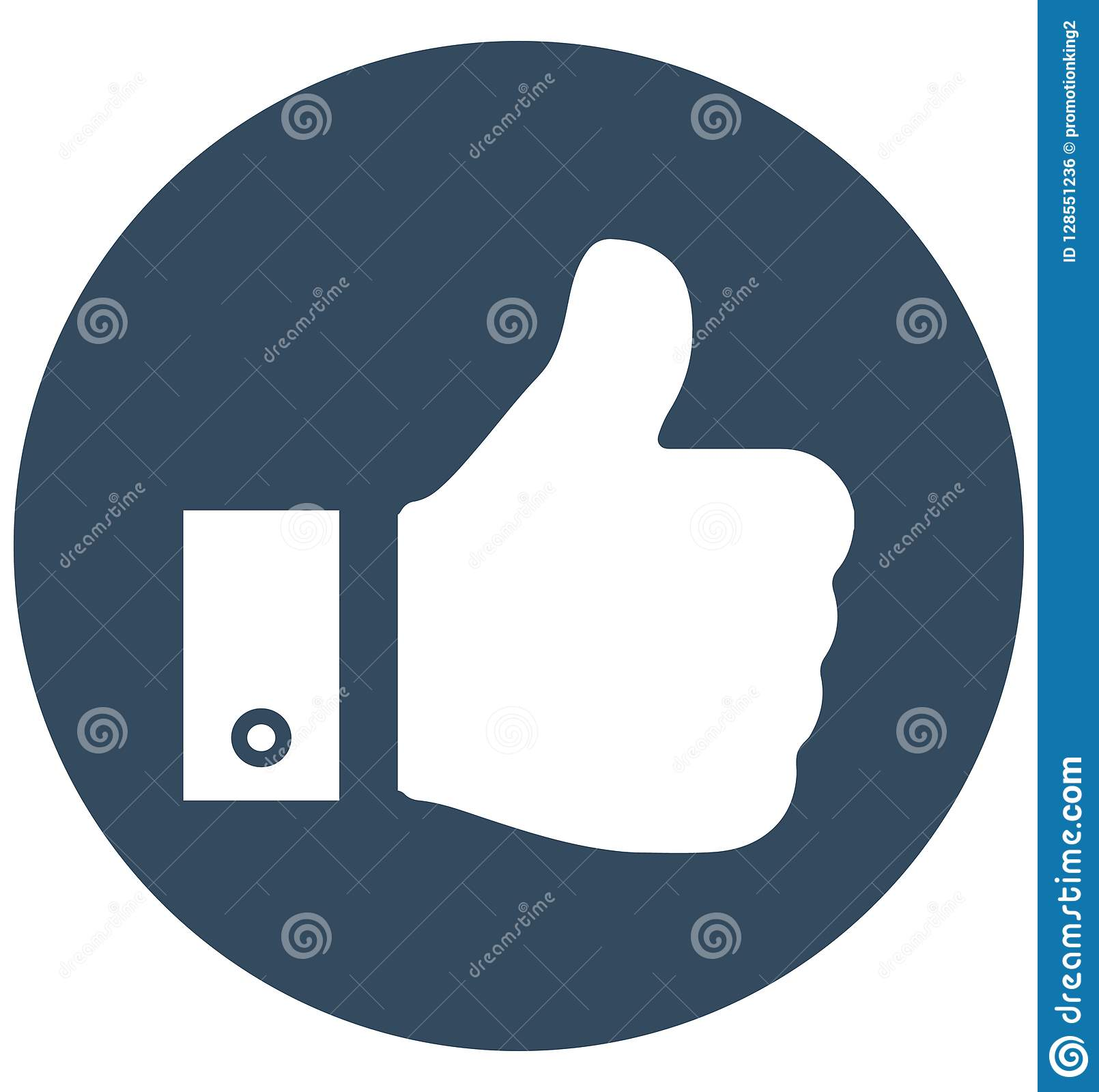 Thumb Up Isolated Vector Icon can be easily edit and modify