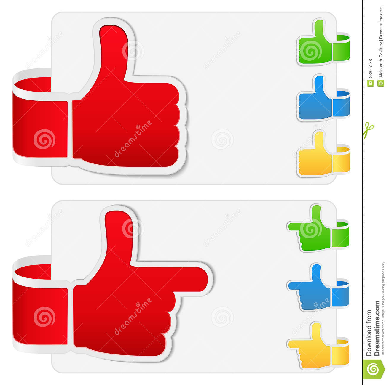Thumb Up Symbols Royalty Free Stock Photos - Image: 23625188
