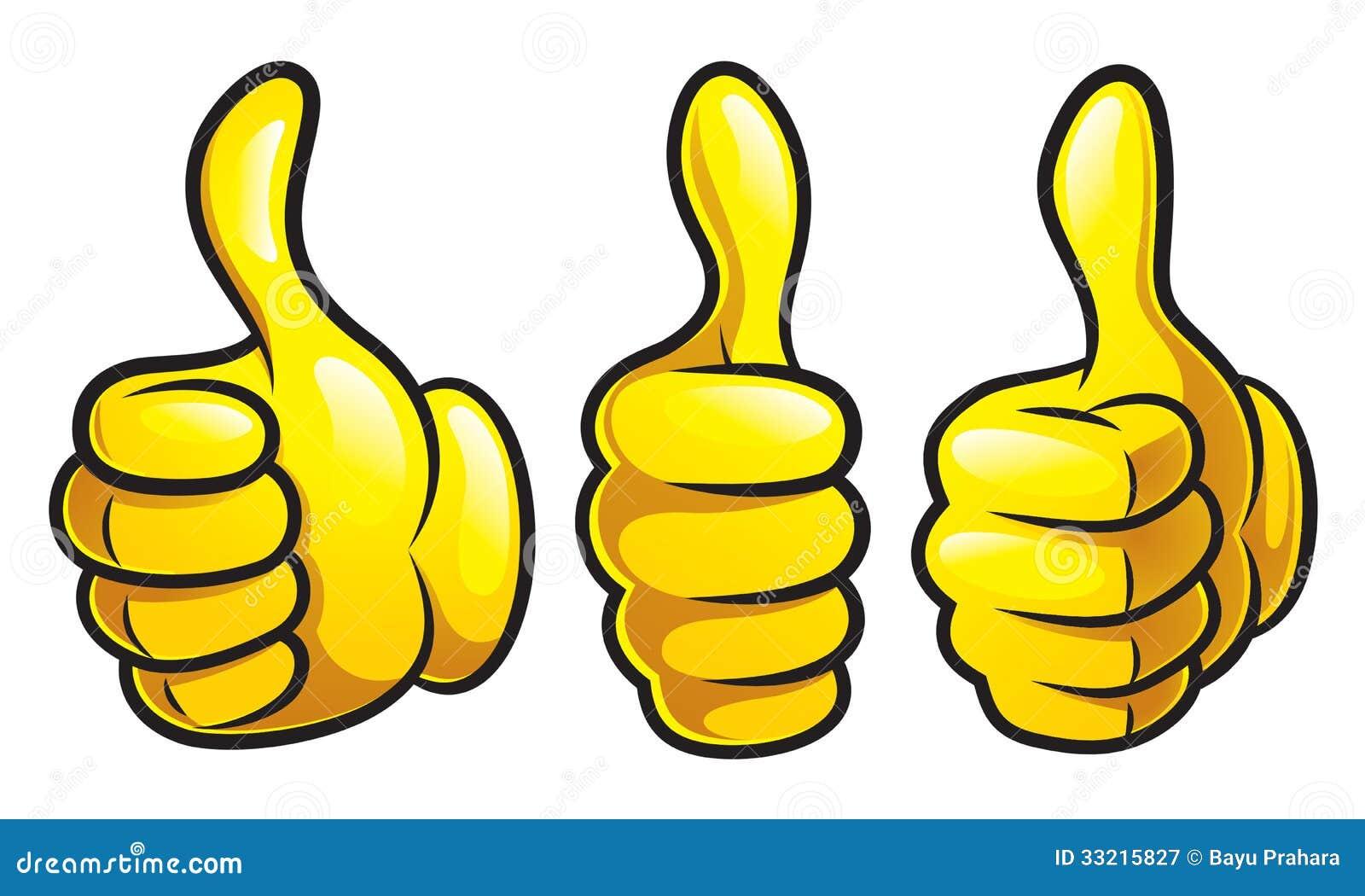 thumbs up style illustration.