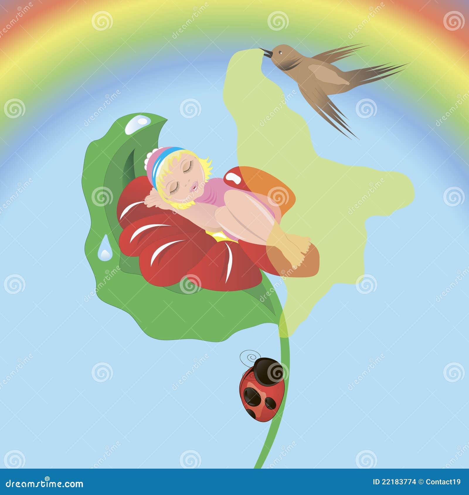 Thumbelina ύπνου λουλουδιών