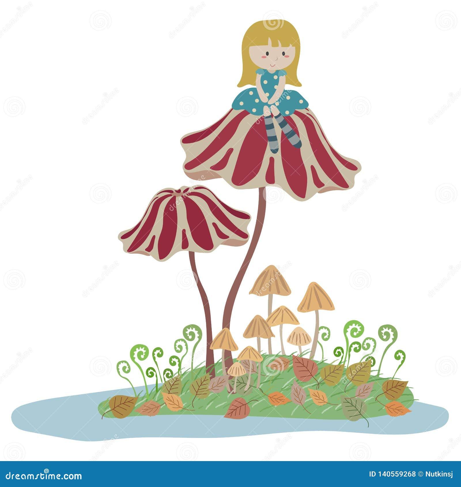 Thumbelina stock vector. Illustration of pastel, princess ...