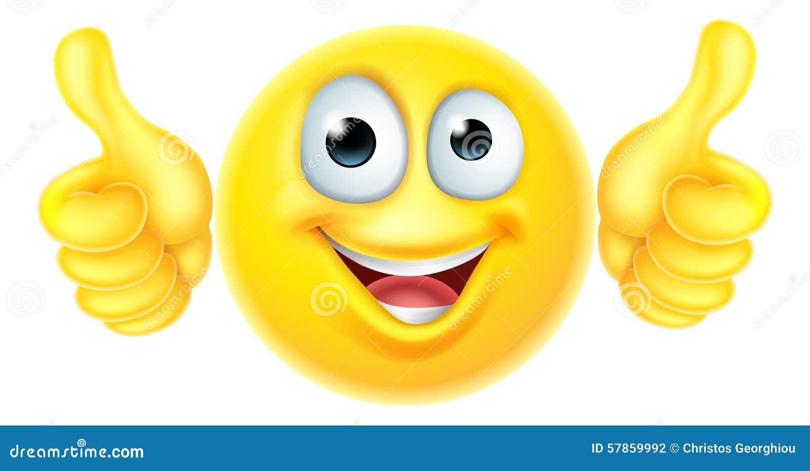 Thumbs up emoticon emoji