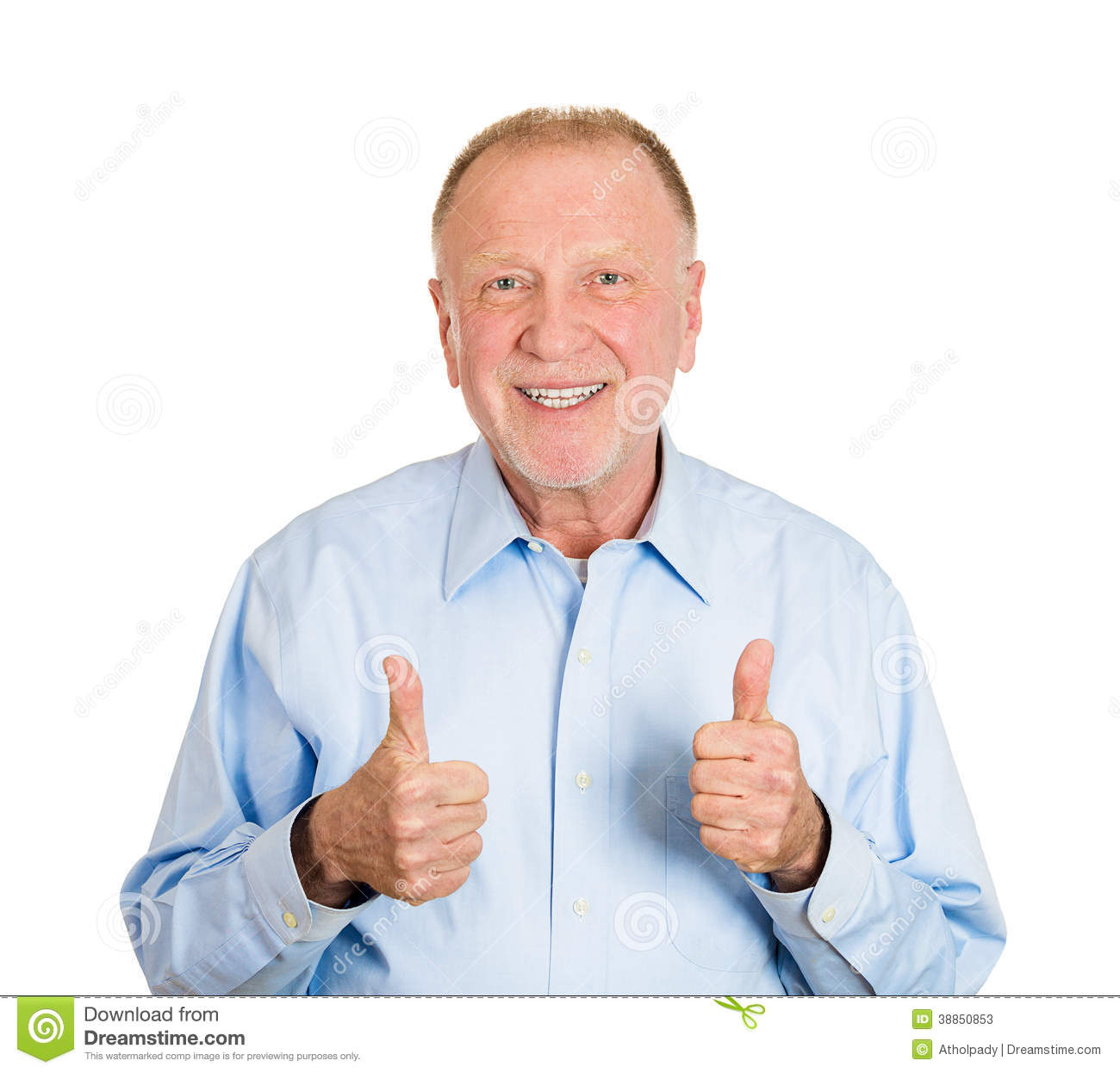thumbs up old man stock image. image of business, boss - 38850853