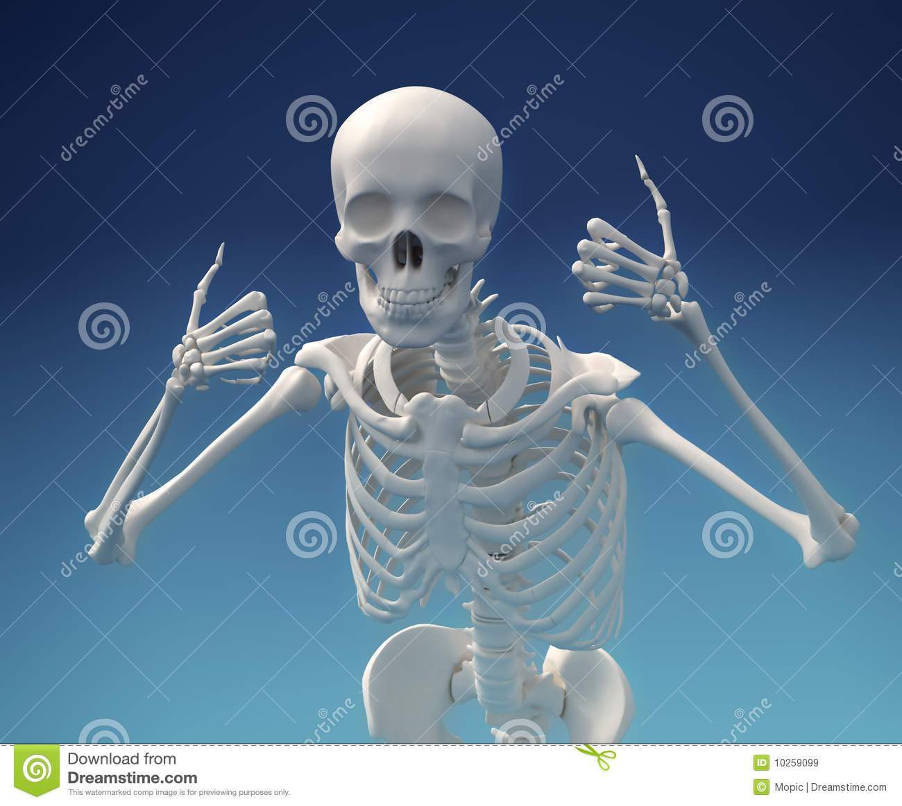 Download Thumbs up skeleton! stock image. Image of finger, background - 10259099
