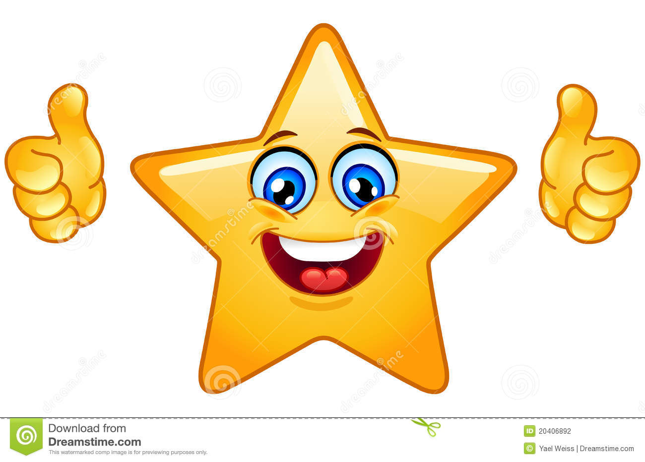 Thumbs Up Star Stock Photography - Image: 20406892
