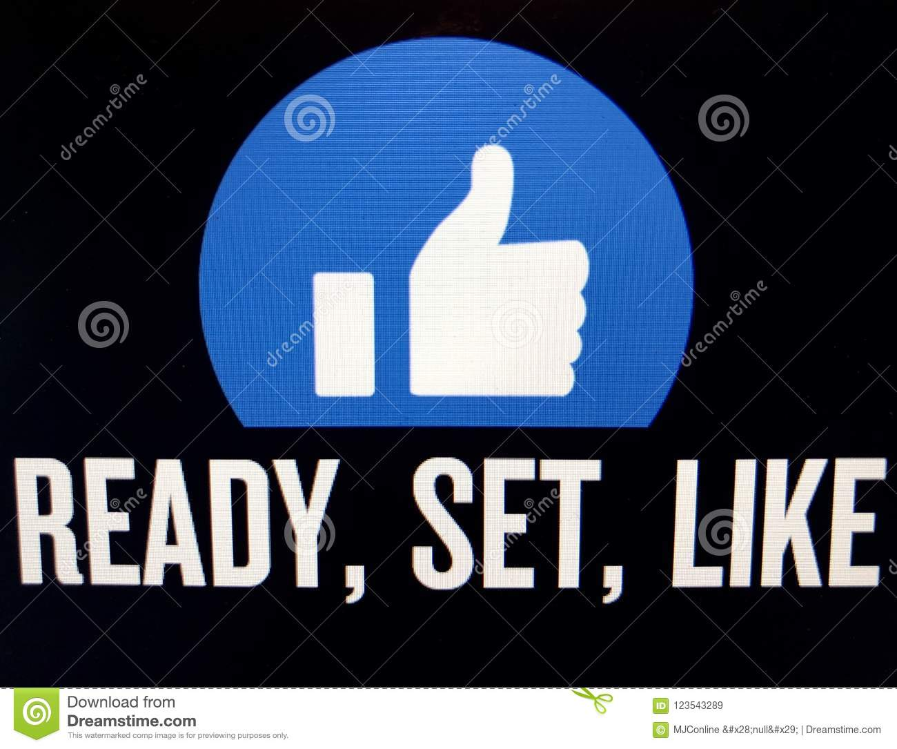 Thumbs Up Symbol For Facebook Stock Illustration Illustration Of