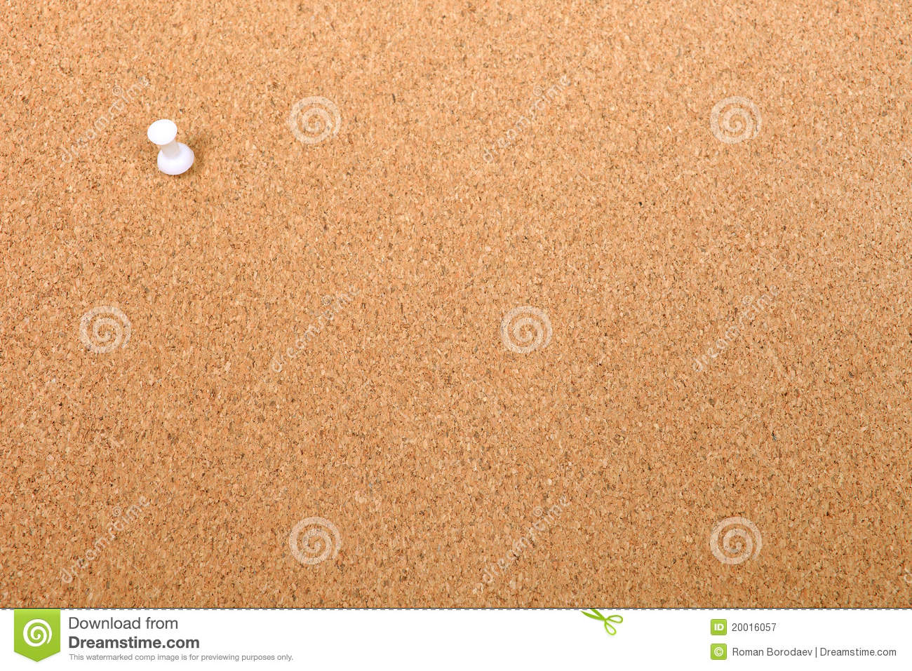 thumbtack and empty bulletin board royalty free stock
