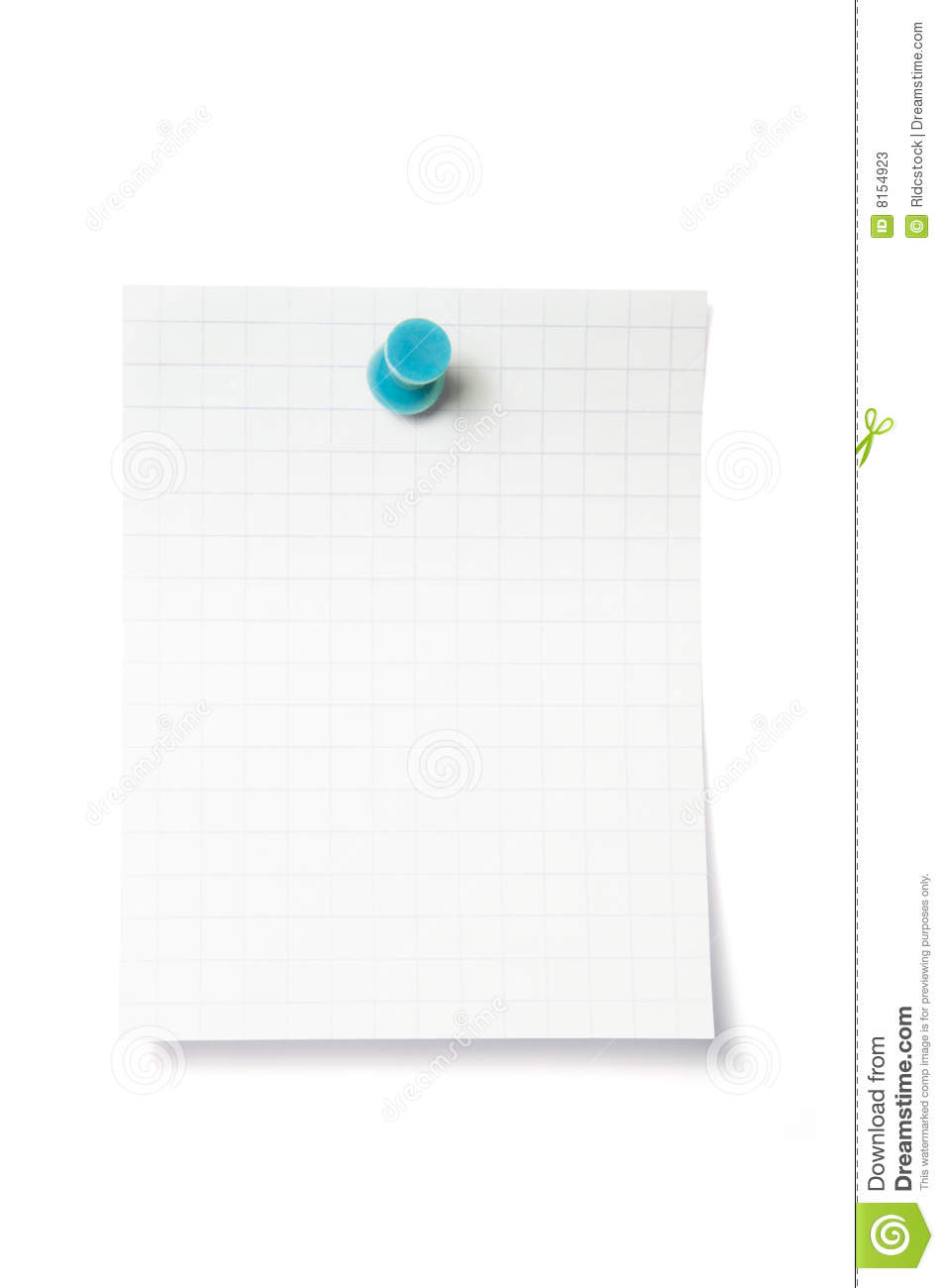 Thumbtack On Note With Clipping Path Stock Photos - Image ...