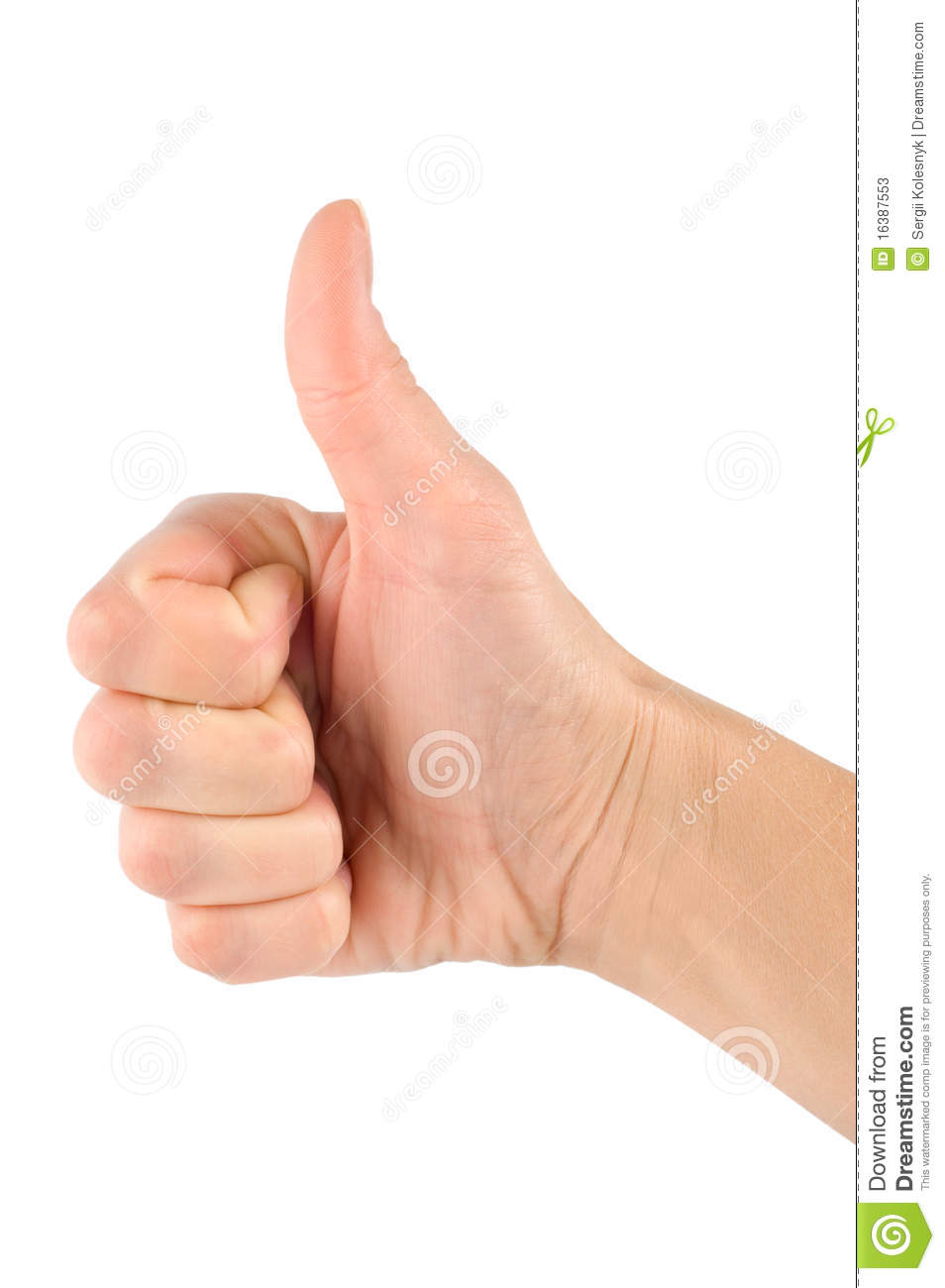 Download Thump up hand sign stock image. Image of finger, abstract - 16387553