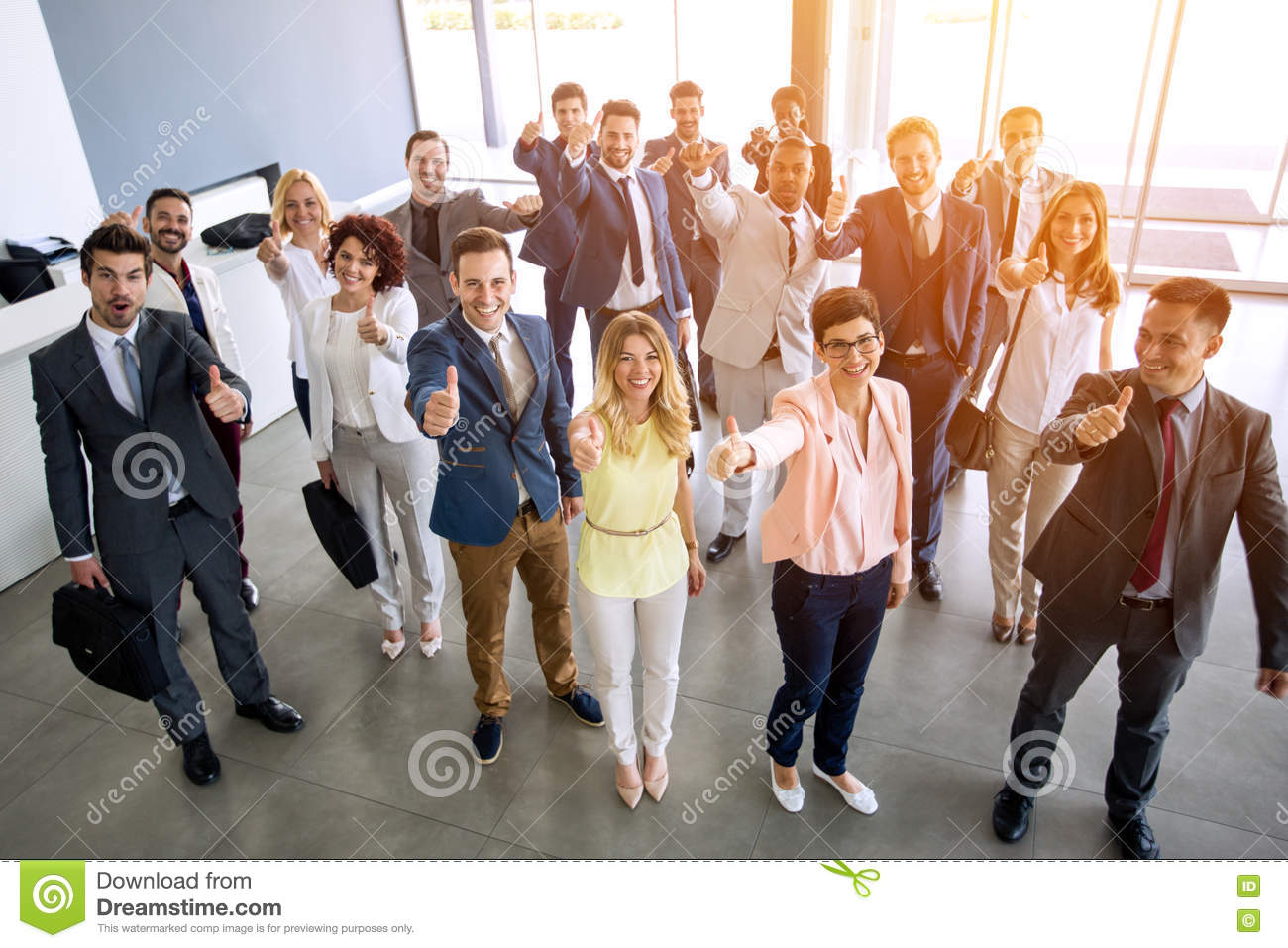 Download Thump up team stock image. Image of attractive, partners - 78701647
