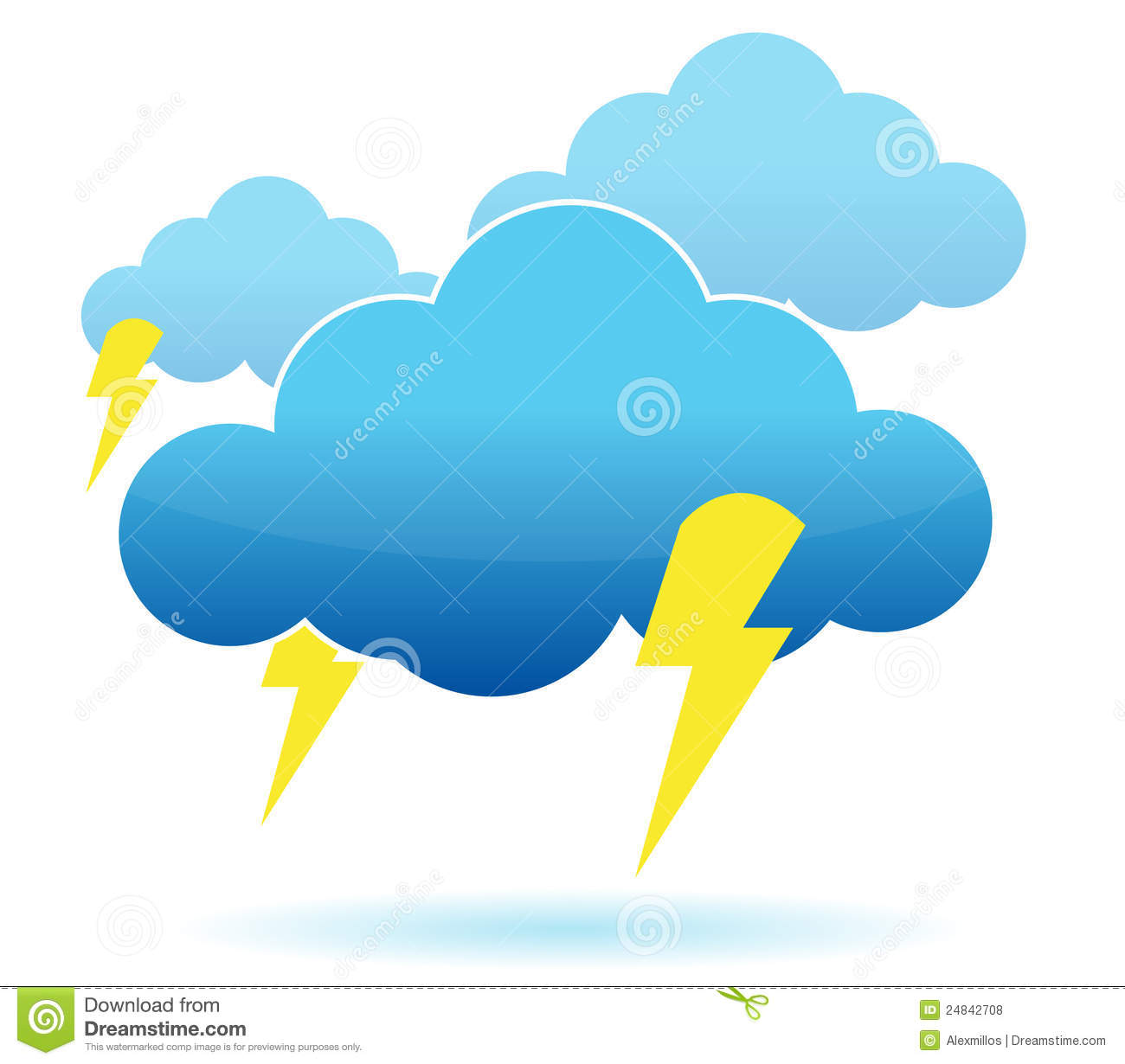 Thunder Cloud And Lightning Illustration Royalty Free Stock Photos ...: https://www.dreamstime.com/royalty-free-stock-photos-thunder-cloud...