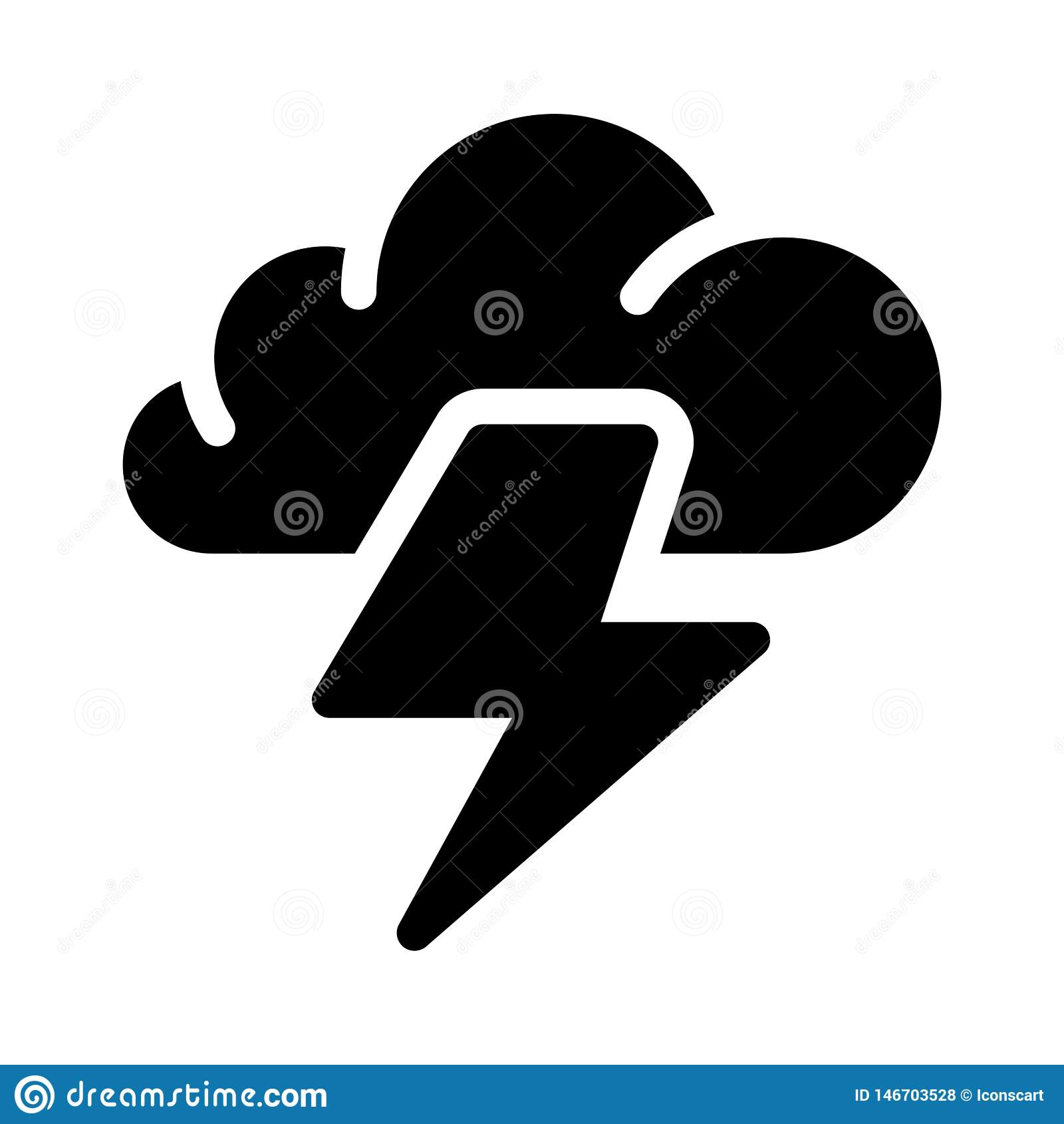 thunder glyph flat vector icon stock vector illustration of lightning clouds 146703528 dreamstime com