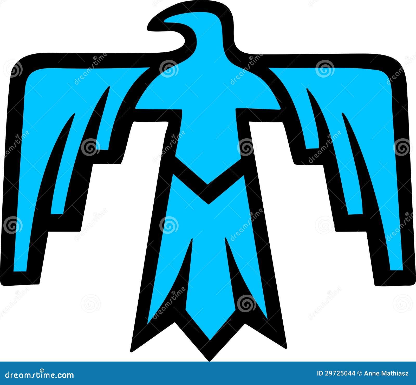 Thunderbird Native American Symbol Stock Vector Illustration Of