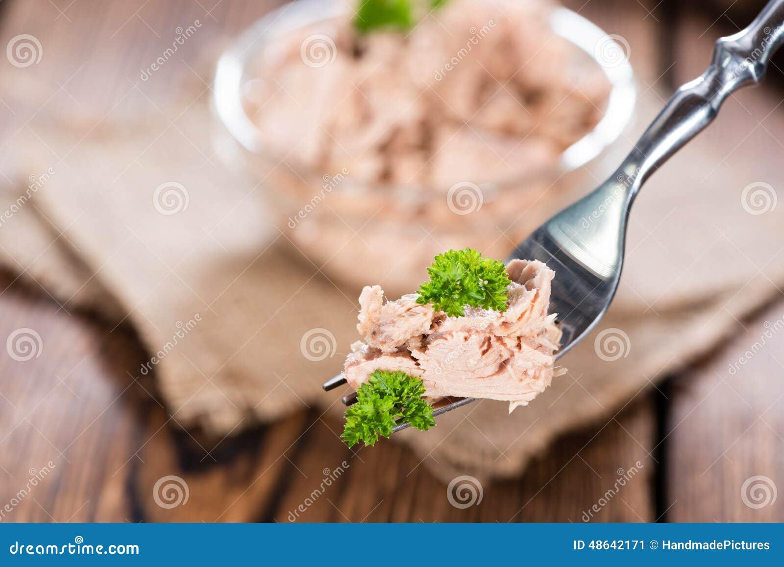Thunfisch auf einer Gabel