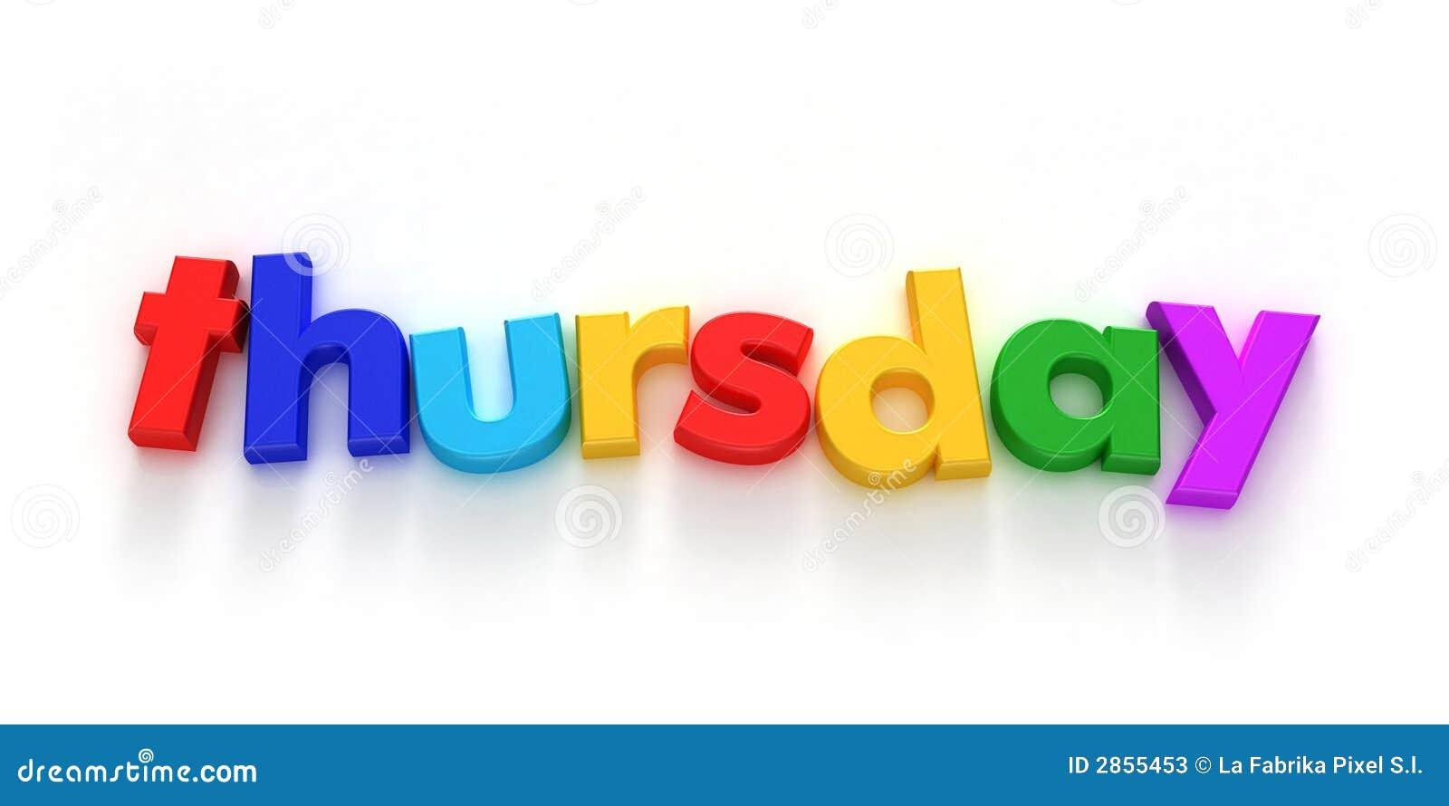 Thursday Stock Photos