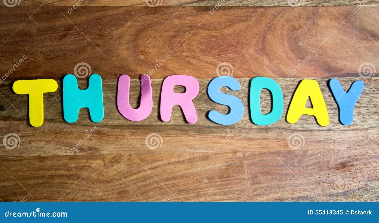 Thursday Stock Photo -...